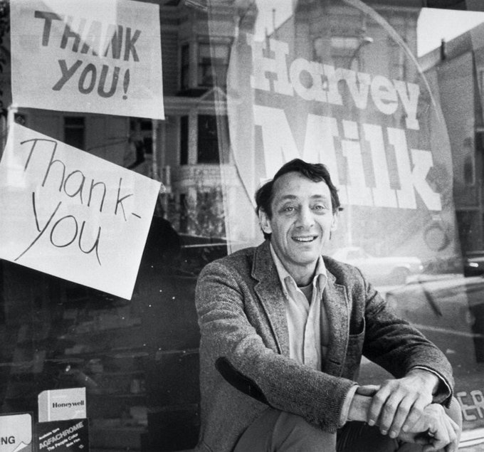 Happy birthday, Harvey Milk!  Rest in Power & Rest In Peace. We thank you and wish I could\ve met you!