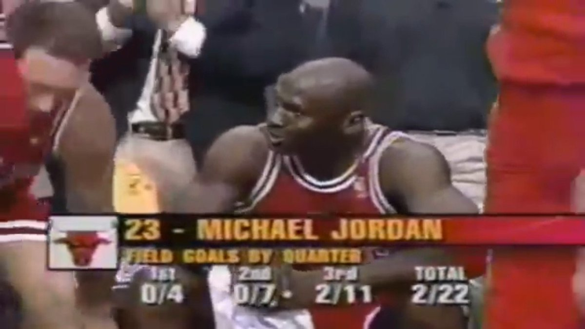 Remember when Michael Jordan did this in the Eastern Conference Finals? Bad games happen. https://t.co/zQs6Cx5htR
