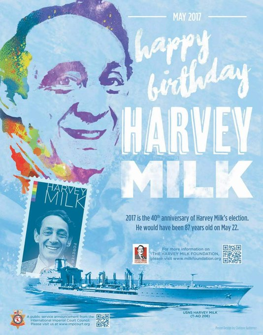 Happy Birthday Harvey Milk. Thank you for showing us we can come together as a community and make things better.