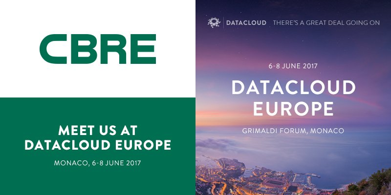 Meet sector leader @cbredatacenters at #DCE17 in #Monaco &amp; discuss data center strategy, brokerage, project management &amp; more. <br>http://pic.twitter.com/cDrX4e9XNN