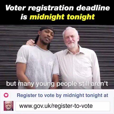 Voter registration deadline is MIDNIGHT...