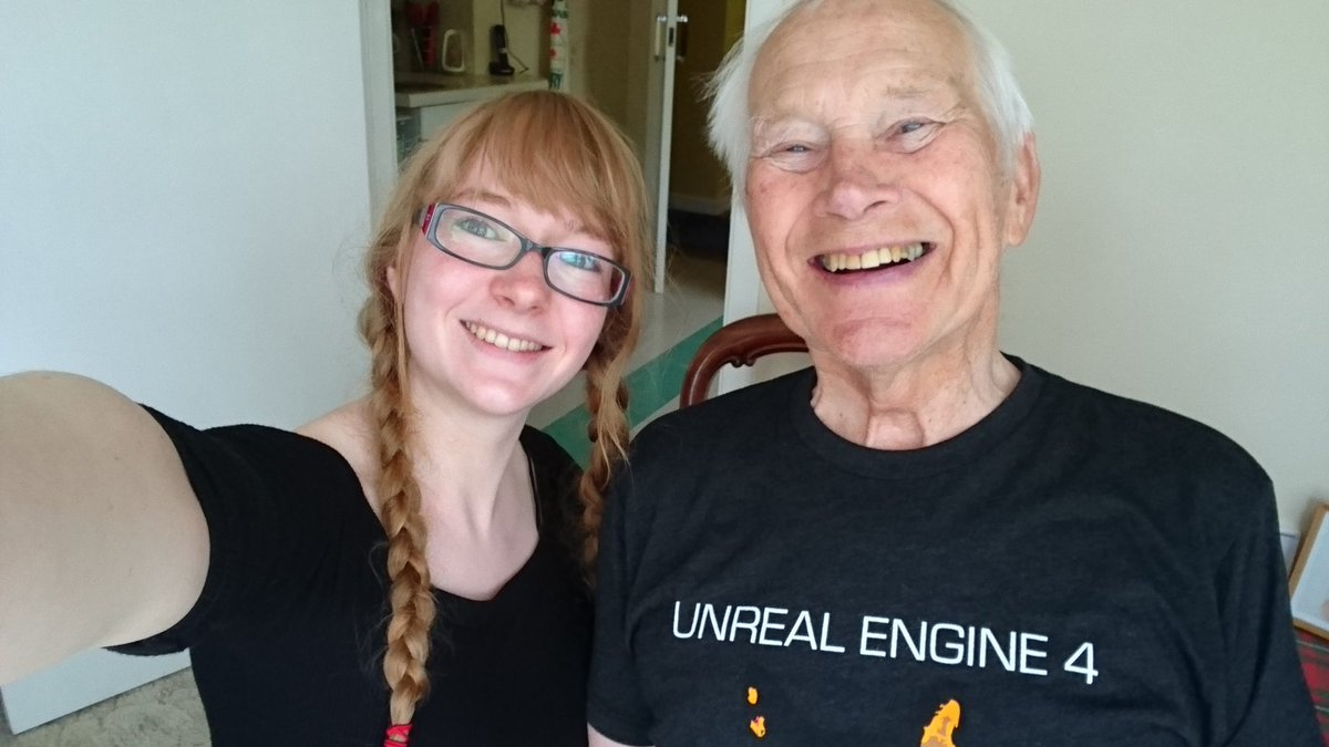 You&#39;re never too old to try something new. My grandad may be 86 but that&#39;s not stopping him from learning about #gamedev &amp; #ue4!! #lifegoals<br>http://pic.twitter.com/qaQTrWaAlr