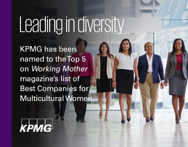 miranda wolfe on twitter proud to be with kpmg_us ranked in top 5 _workingmother_ best companies for multicultural women