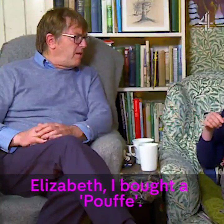 THIS is the correct pronunciation of pouffe... #Gogglebox https://t.co...