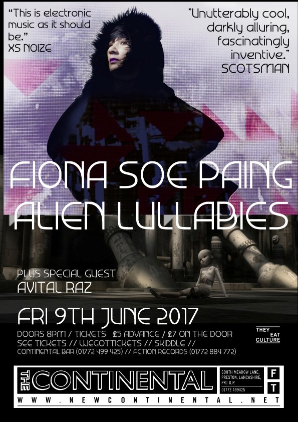 Sublime @FionaSoePaing brings her Alien Lullabies, Fri 9 June w/ guest @avitalraz  http:// newcontinental.net/whats-on/event /fiona-soe-paing-alien-lullabies &nbsp; …  #gigs #electronicmusic #Preston<br>http://pic.twitter.com/SfUVDYTwdn