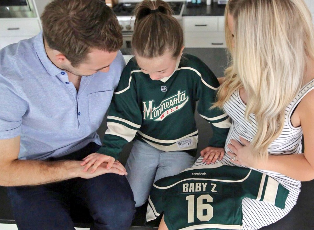 Jason Zucker On Twitter The Zucker Family Is Growing Can T Wait
