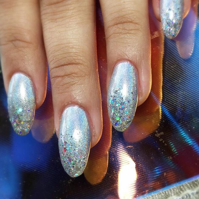 Wah Nails On Twitter Full Set Of Acrylics With Holo Polish And Glitterrr By Queen Izzy Book In Her Emailing Bookings London