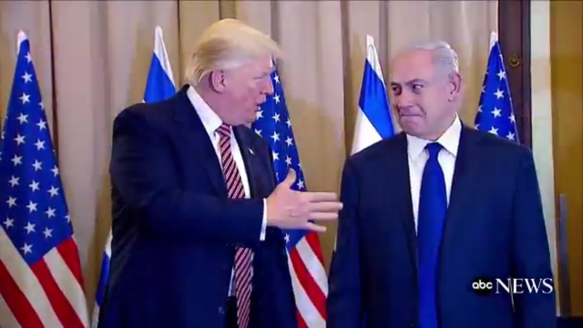 TRUMP: You know it was a great orb, highlight of the trip. You might say it was-- BIBI [thinking]: Don't say it TRUMP: Extraorbinary BIBI: