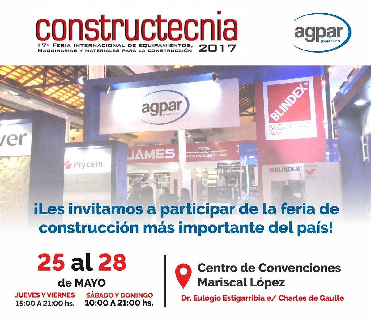 Participá con nosotros de CONSTRUCTECNIA 2017🏢🔨🔧 #AGPARPY #Constructecnia #Constructecnia2017 https://t.co/bJAhxWlBBv