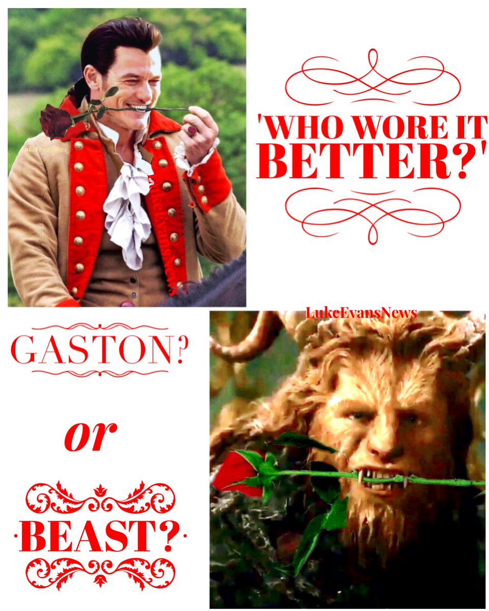 Who pulled it off?? #WhoWoreItBetter #BeautyAndTheBeast #Gaston #Beast #LukeEvans #DanStevens<br>http://pic.twitter.com/VO66jGRwby