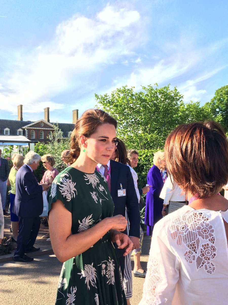 It's an honour to have Her Royal Highness The Duchess of Cambridge at #RHSChelsea this evening! @RoyalFamily
