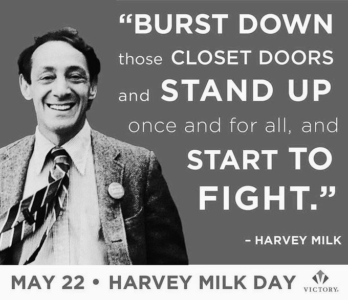 Happy birthday to the first Gay person to be elected to office in California & LGBTQ campaigner Harvey Milk (R.I.P)