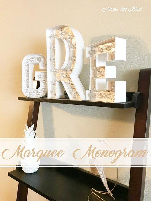 Marquee Monogram