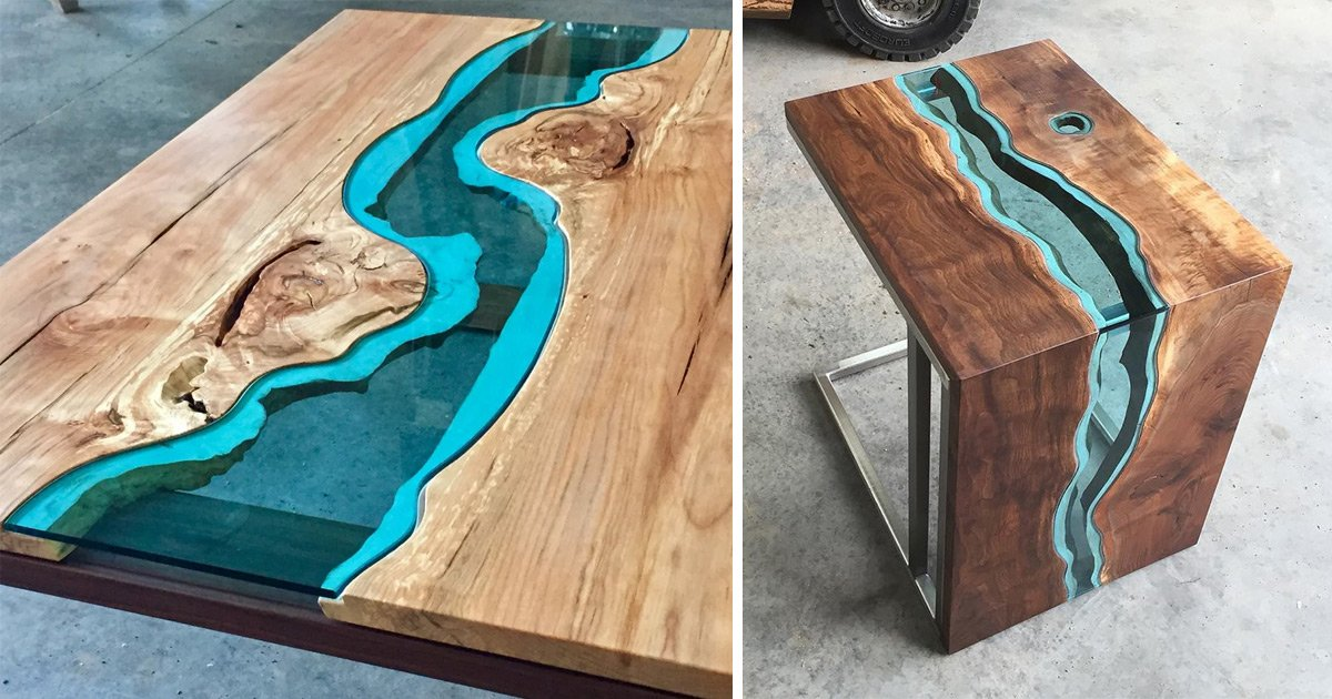 #Wood #Tables and Wall #Art Embedded with #Glass Rivers and Lakes by #GregKlassen  http:// crwd.fr/2rcfzXv  &nbsp;  <br>http://pic.twitter.com/IBk1yZDLOg