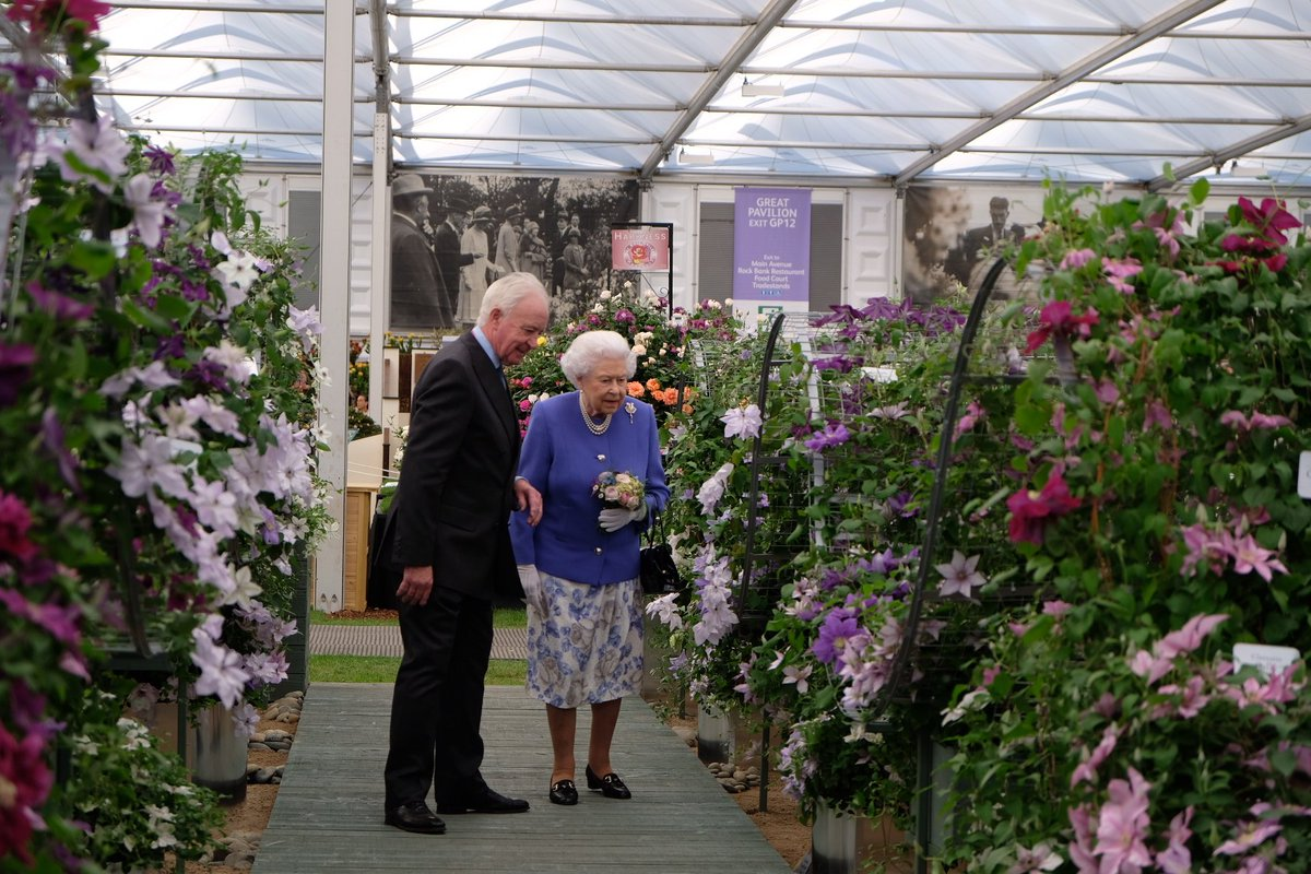 The Queen has arrived at #RHSChelsea - Her Majesty has been Patron of @The_RHS since 1952.