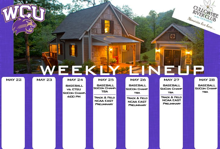 Catamount Weekly Line-up  (5-28-17)