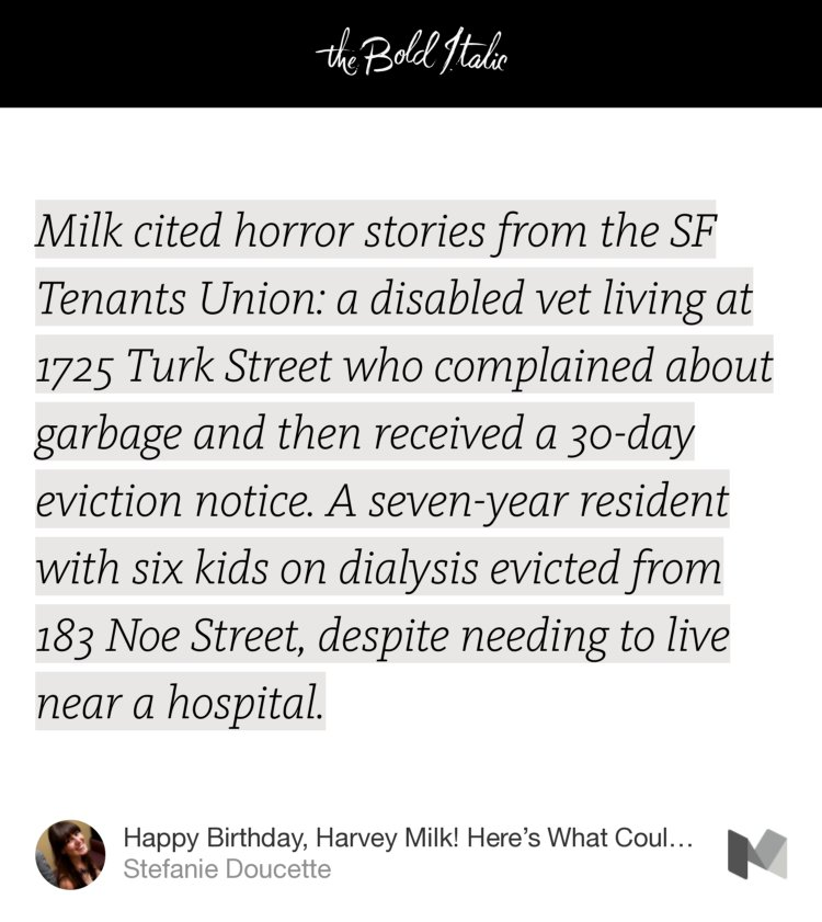 Happy Birthday, Harvey Milk! Here s What Could Have Been  Stefanie Doucette