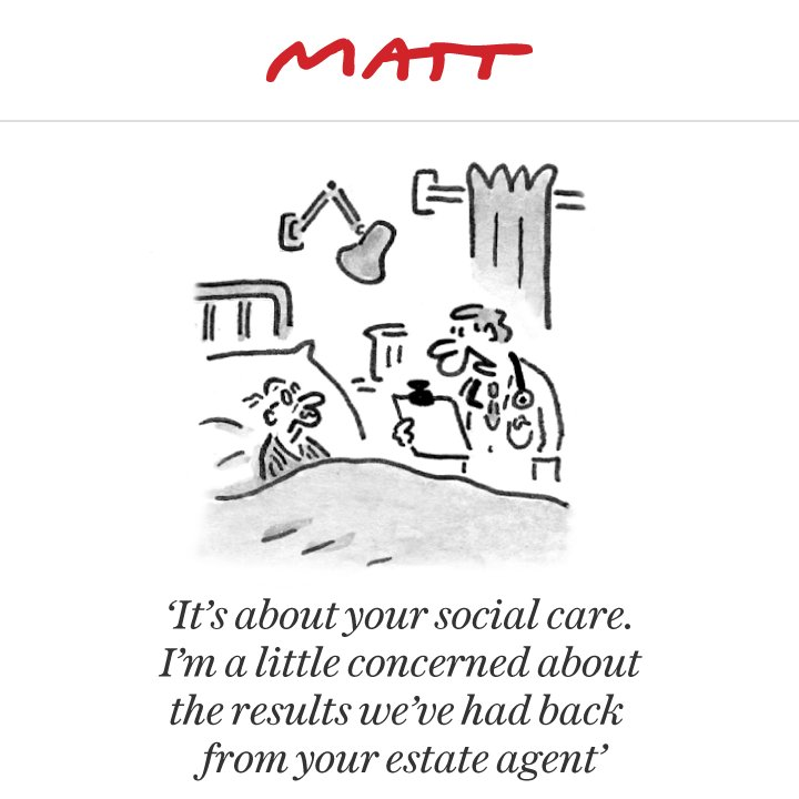 The #DementiaTax. Matt nails it in @Telegraph, as always...
