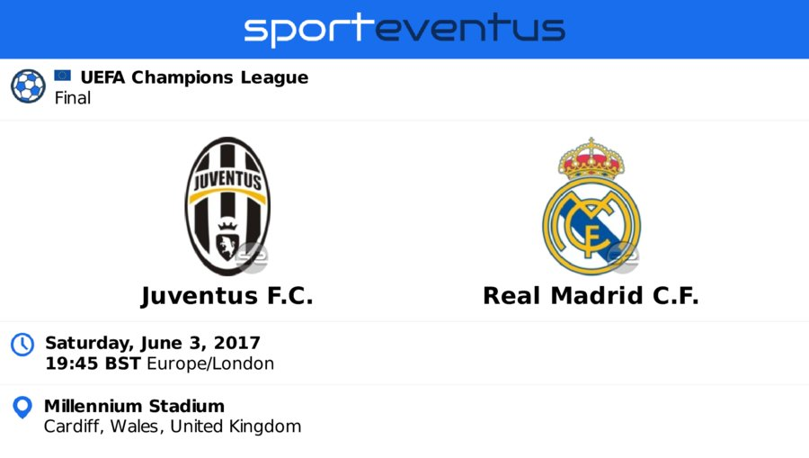 Compare #ticket prices & buy in-app  #juventusfc vs #realmadrid  Saturday, June 3rd 19:45 BST  #championsleague  http:// link.sporteventus.com/evtw?event_id= 175743   … pic.twitter.com/9FYOrUVpfA