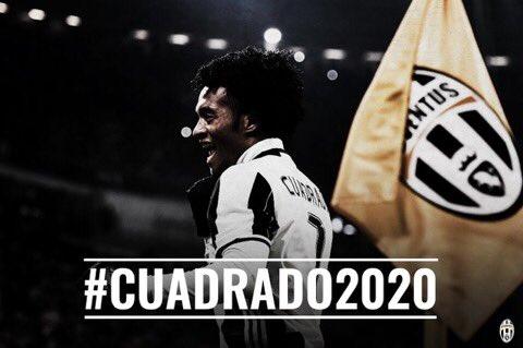 La #Juventus a levé l'OA de Juan #Cuadrado (Chelsea). Le colombien s'est engagé jusqu'en 2020.pic.twitter.com/fzBmVrr6qJ