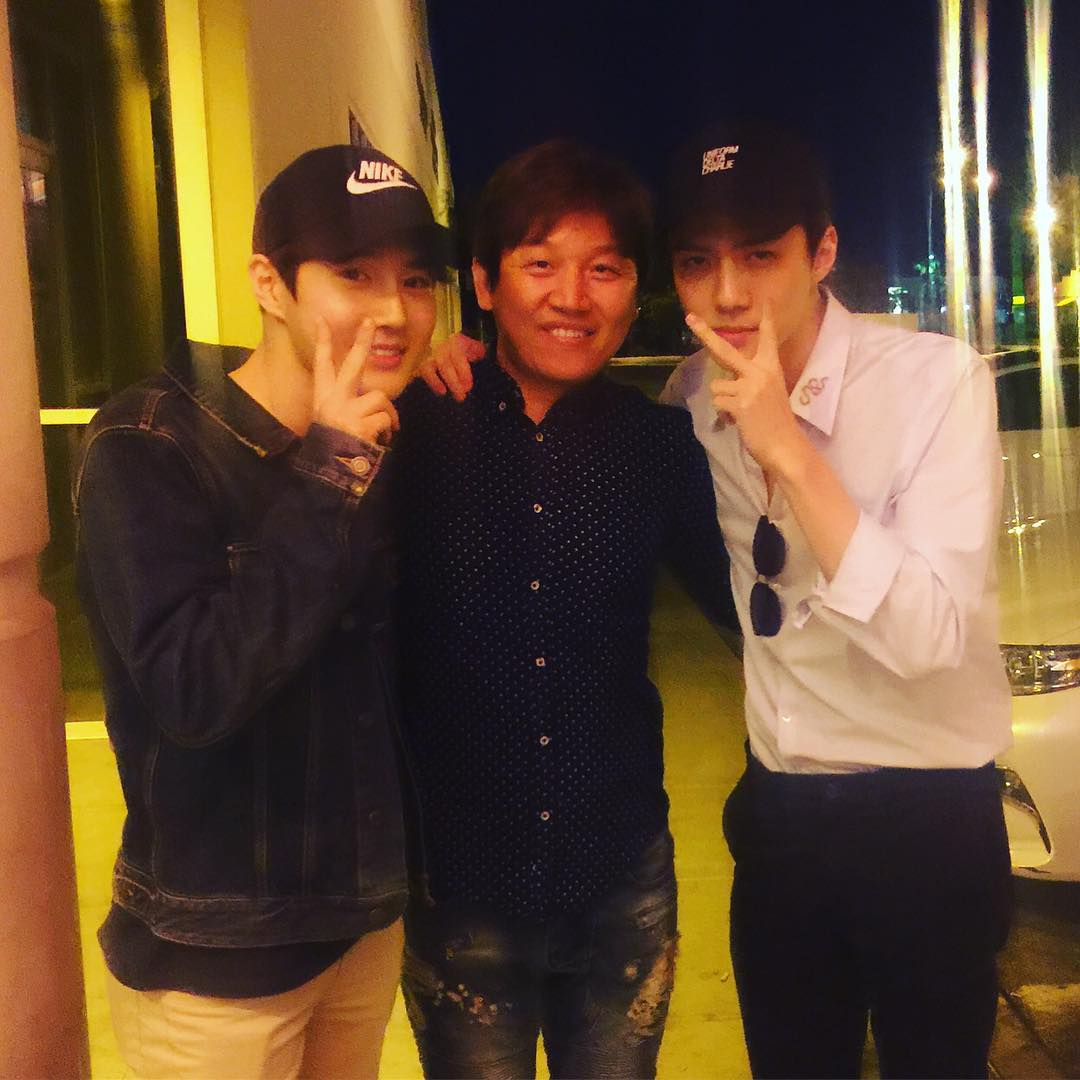 [TRANS] 170522 hobakkoreanbbq Instagram Update with Suho and Sehun