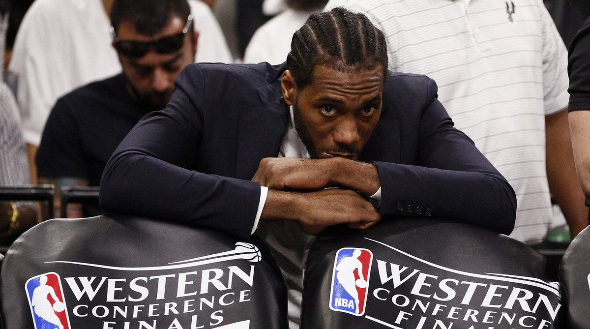 Kawhi Leonard is OUT for Game 4 https://t.co/uw7MR3gYB6 https://t.co/a...