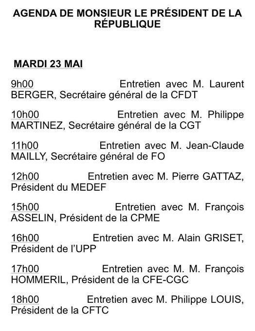 Que fera Macron mercredi après-midi ? #SurpriseSurprise