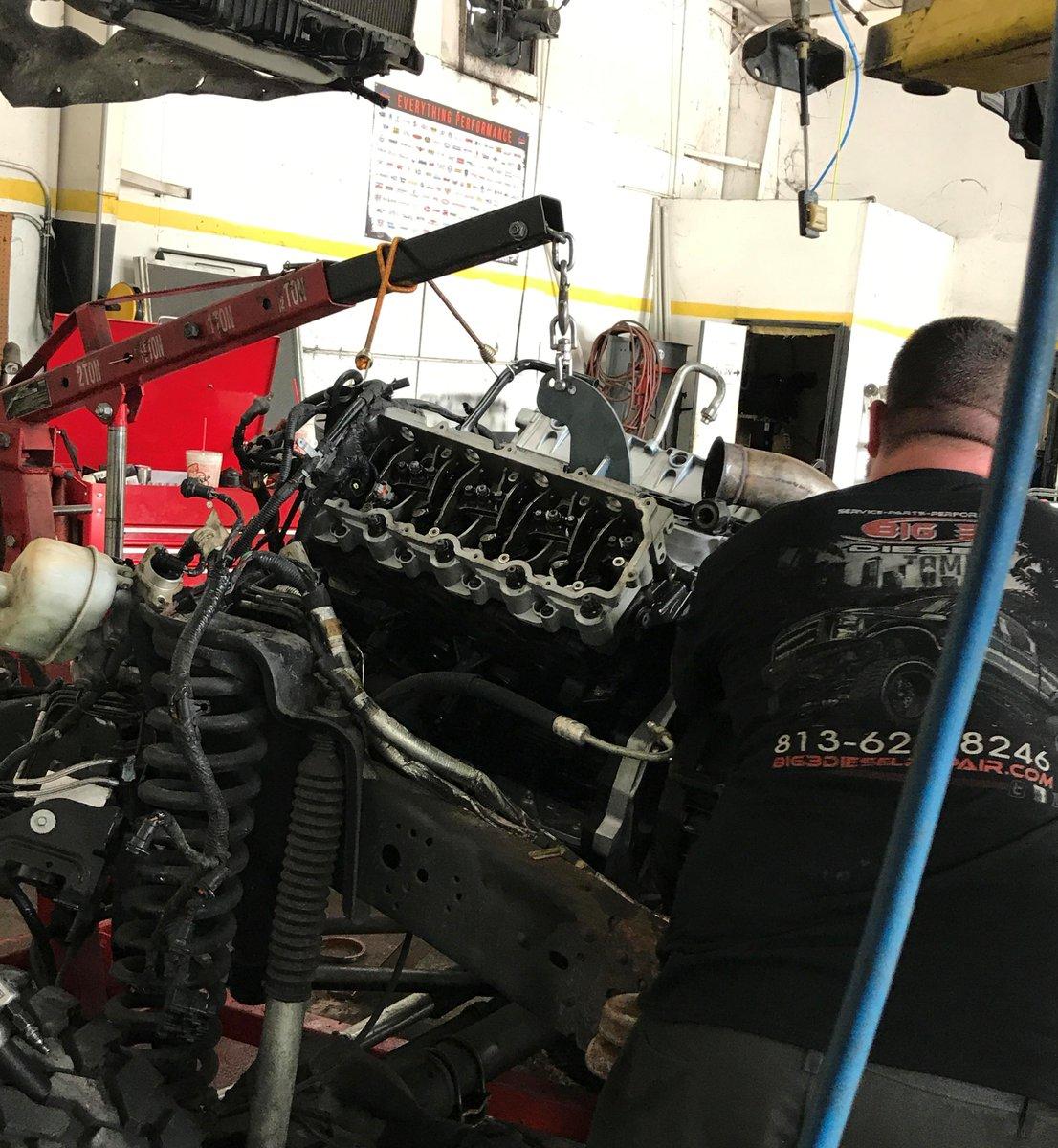 Finishing up on a stage 2 BulletProof job. #Big3DieselRepair #Diesel #F350 #Ford @BulletProofDesl<br>http://pic.twitter.com/6uMpX27Zvr