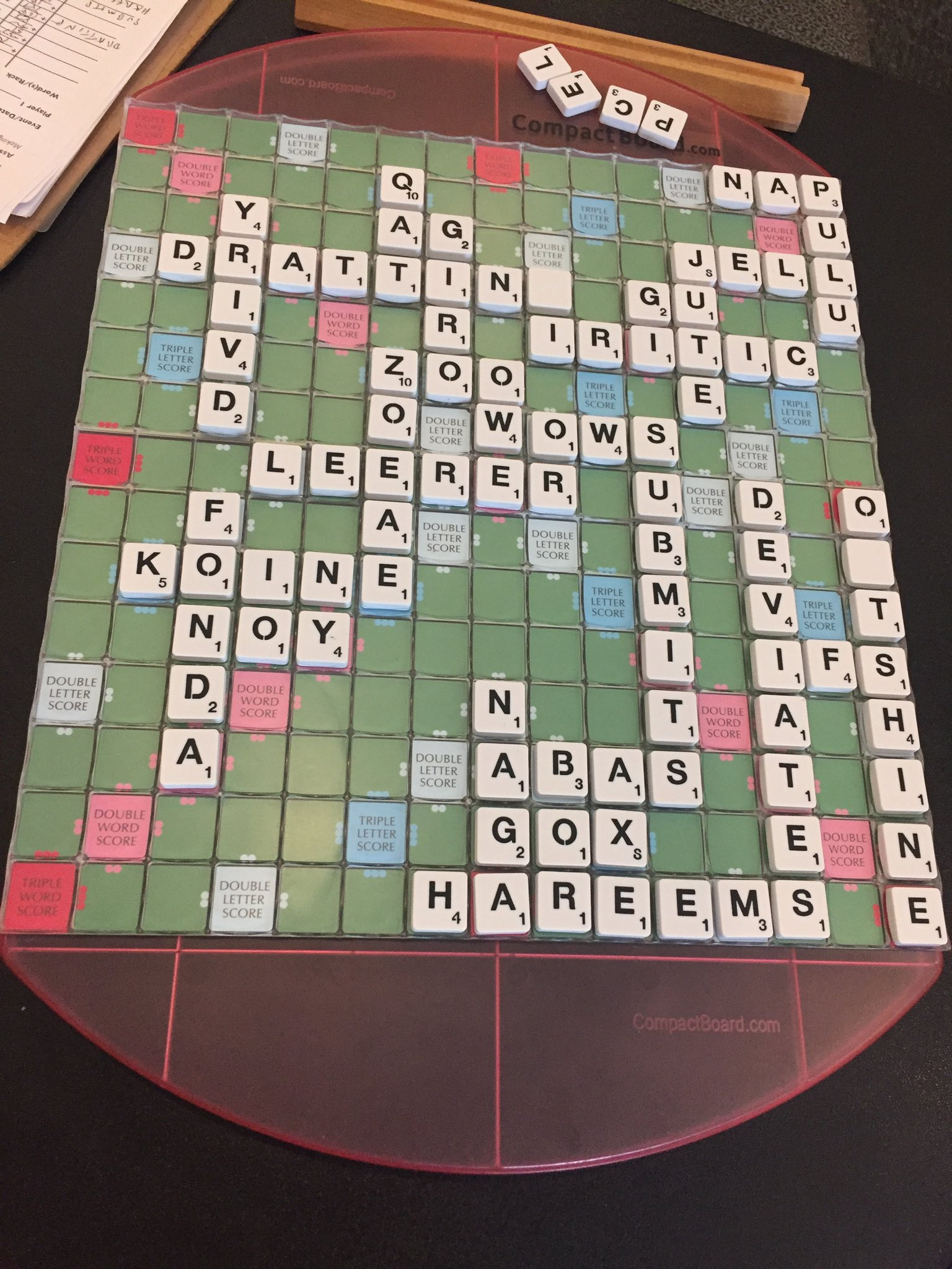 #NiagaraScrabble2017 R24: Leslie Charles 546 Andy Saunders 317 #scrabble https://t.co/48ytwDDvcG