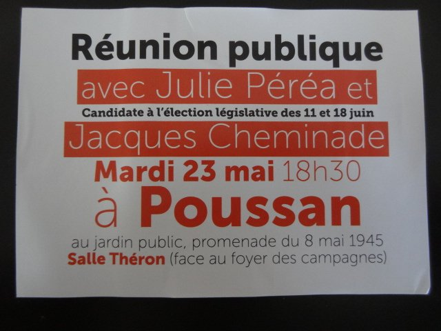 Ce soir en réunion publique avec #JCheminade à Poussan @francebleupic.twitter.com/oVYNU7sKaQ