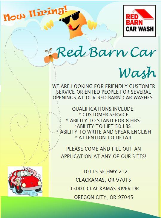 Car Wash Barn >> Red Barn Car Wash Thecarwashcow Twitter
