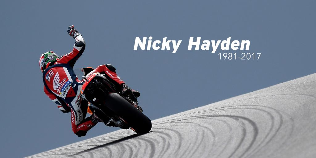 Farewell, Nicky. Thank you for your friendship, dedication, and spirit. You will always be our Champion. https://t.co/PY8cdTekSP