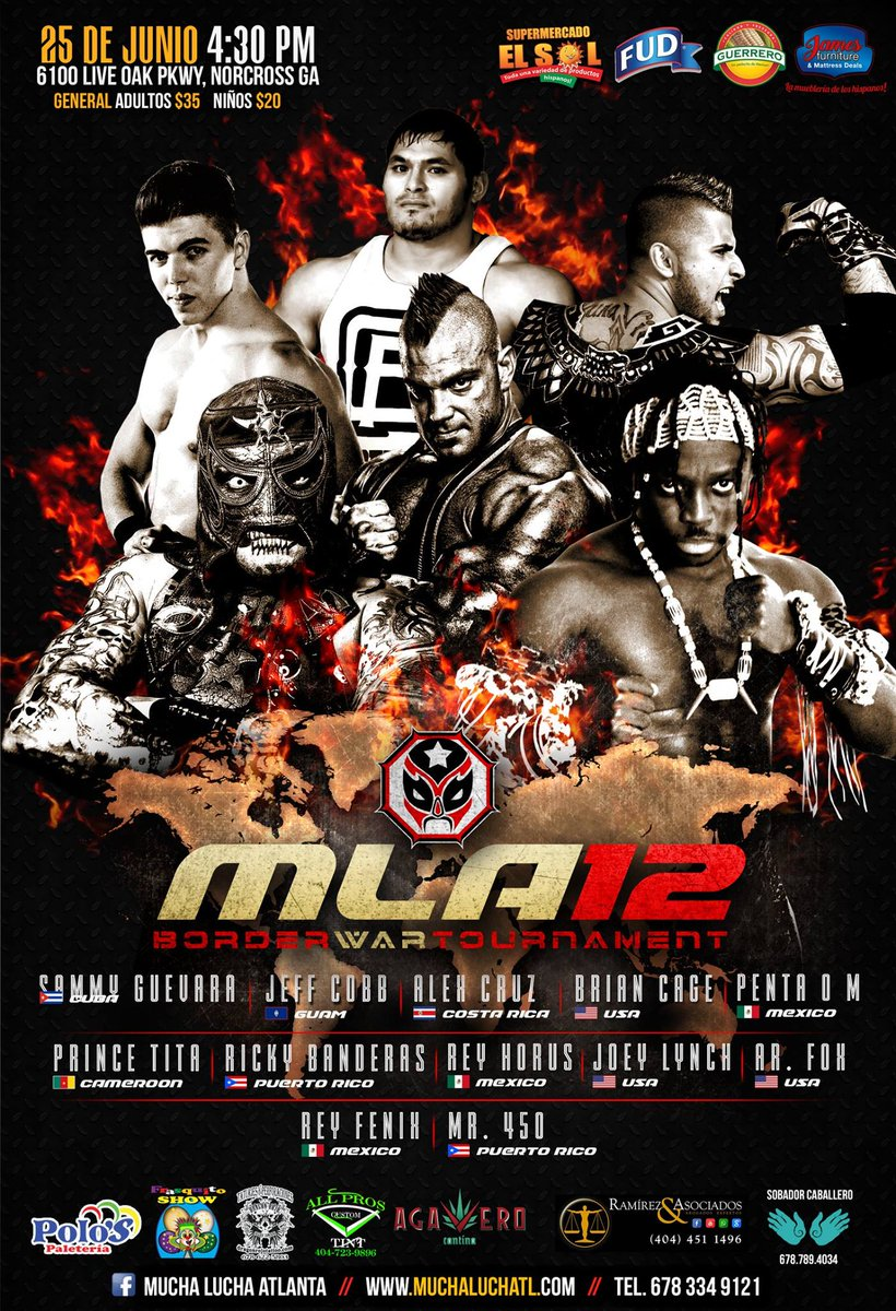 Who is your pick to win the Border War Tournament on 6/25?  #MLA12 #BorderWar #MLAWorldwide  Tickets available at  http://www. muchaluchatl.com/shop  &nbsp;  !<br>http://pic.twitter.com/DCulb1hjmW