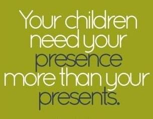 Your presence is the most important gift for your children, #presence not #presents #childcare #parenting<br>http://pic.twitter.com/Rpwem7BeV2