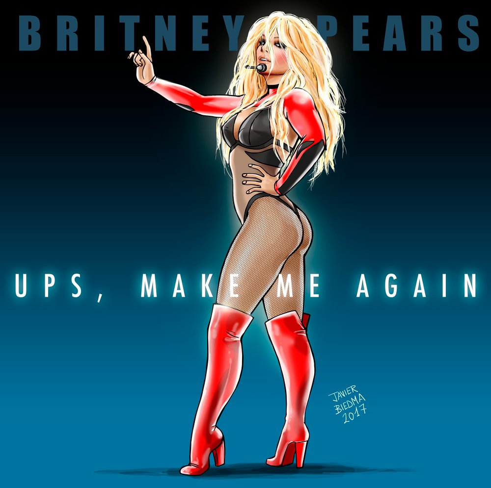 My new version of Britney Spears, a fusion which has reminiscences of &quot;Ups, I Did It Again&quot; and the new style of 2017! #BritneyArmy #Britney <br>http://pic.twitter.com/4K4XkbOCtA