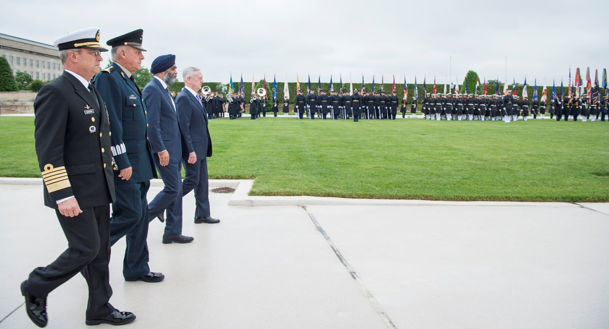 #SECDEF Mattis welcomed the North American Defense Ministerial to the #Pentagon today with full honors.<br>http://pic.twitter.com/ZSvapvRKG3