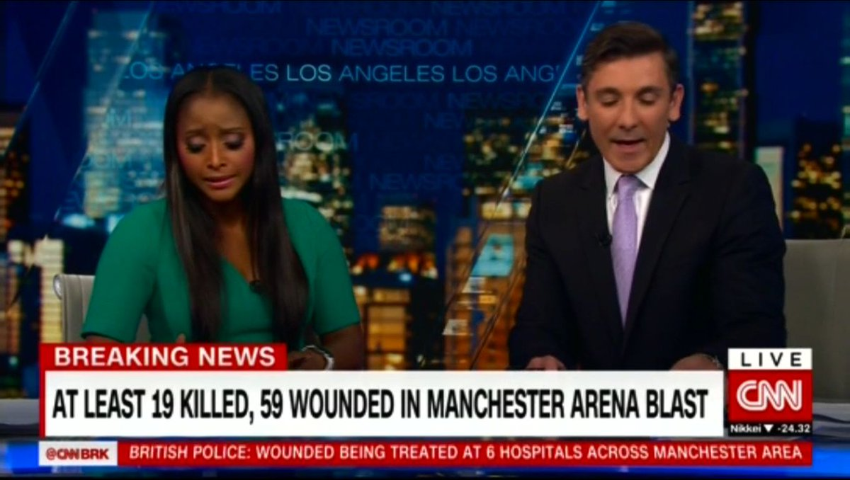 CNN, Al Jazeera, RT & Bloomberg coverage of the Manchester concert explosion. https://t.co/s9Z8fasd37