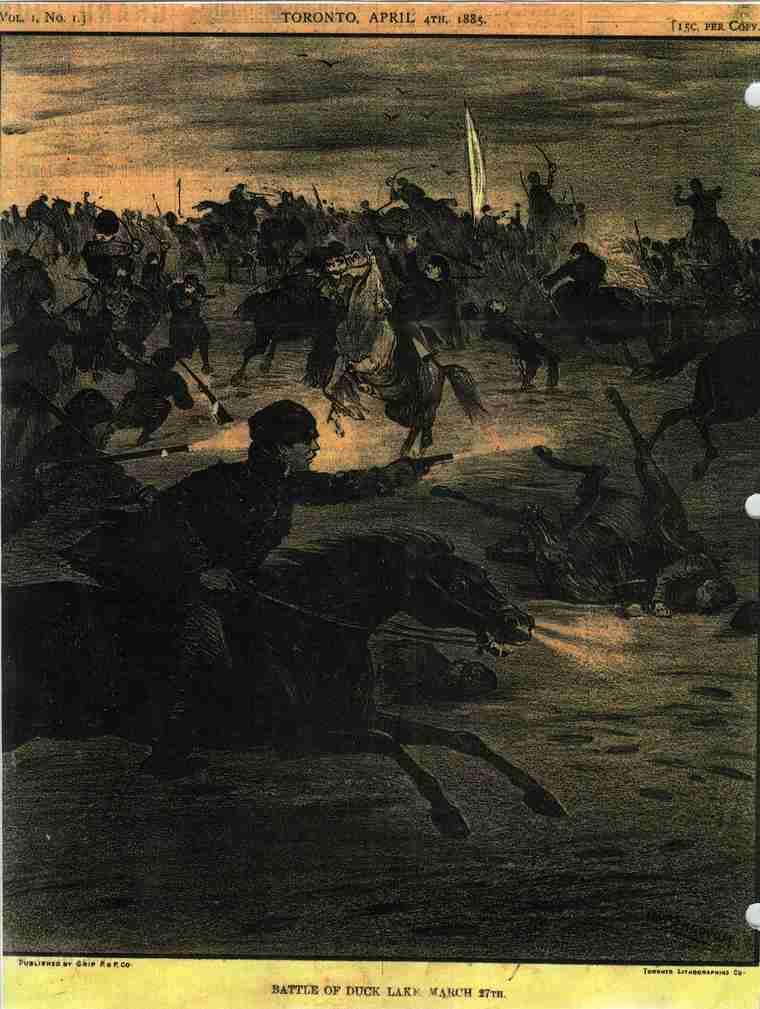 Cover of 'Illustrated War News', Toronto ~ April 4 ~ depicting Battle...