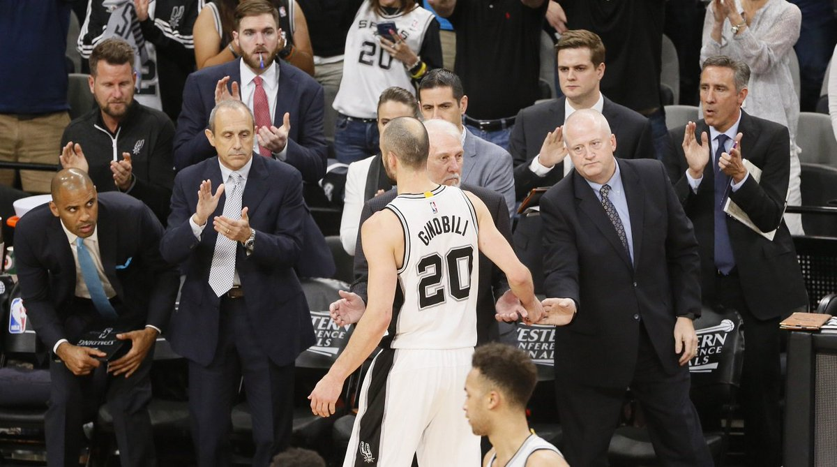 Warriors-Spurs: Fans serenade Manu Ginobili after possibly his final N...