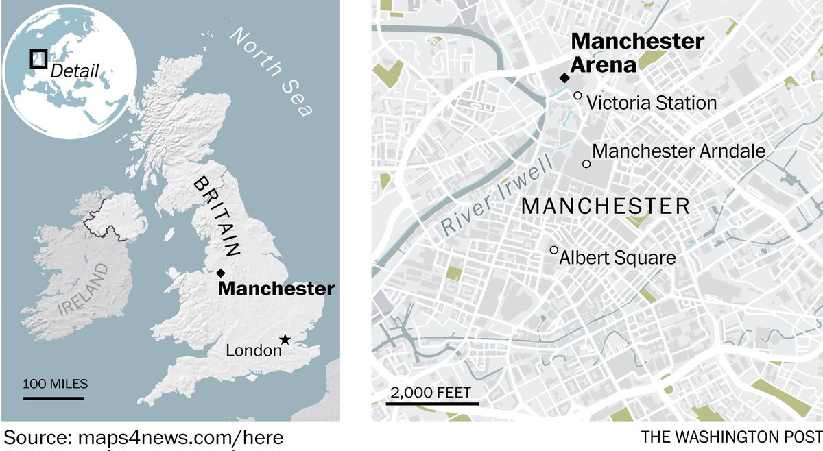 Police report multiple deaths following apparent blast at Ariana Grande concert in Manchester https://t.co/BoNbZRwdZV
