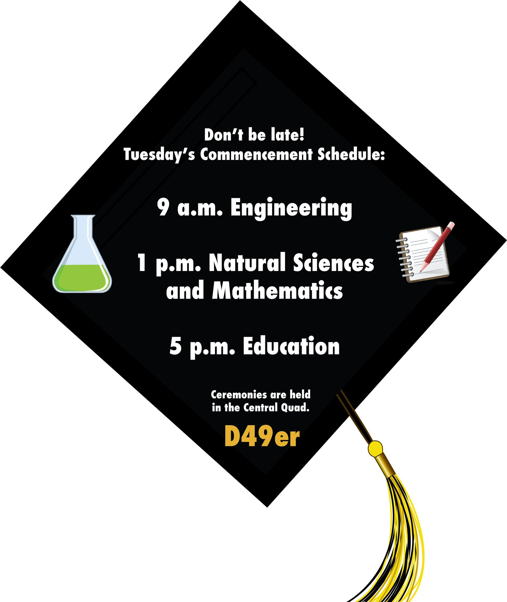 Don't be late to commencement!  The @CSULB commencement ceremonies start tomorrow at 9 a.m! #CSULB #Graduation #Classof2017 https://t.co/ZrSOax0OJr