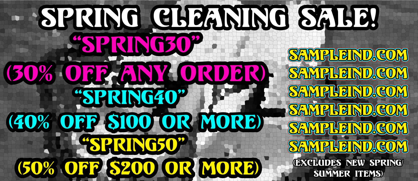 Sample Industries On Twitter Spring Sale Is Now Live Use Code Spring30 For 30 Off Spring40 40 Spring50 50