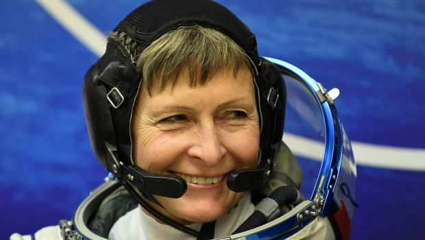 .@AstroPeggy has broken the record for the number of spacewalks by a w...