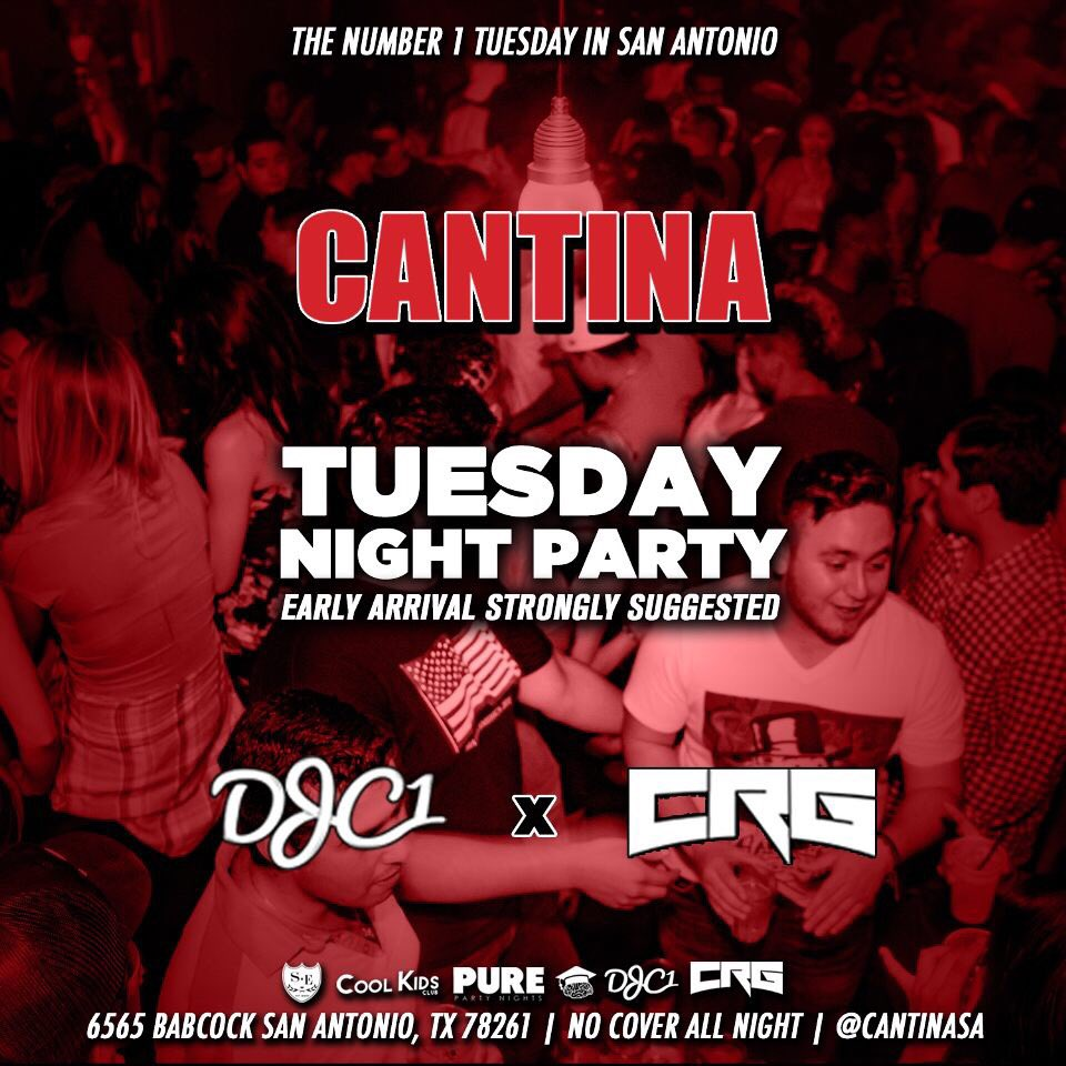 Come party with us @CantinaSA every Tuesday night  #CollegeNight #SocialElites #SA <br>http://pic.twitter.com/hrThsnMeV6