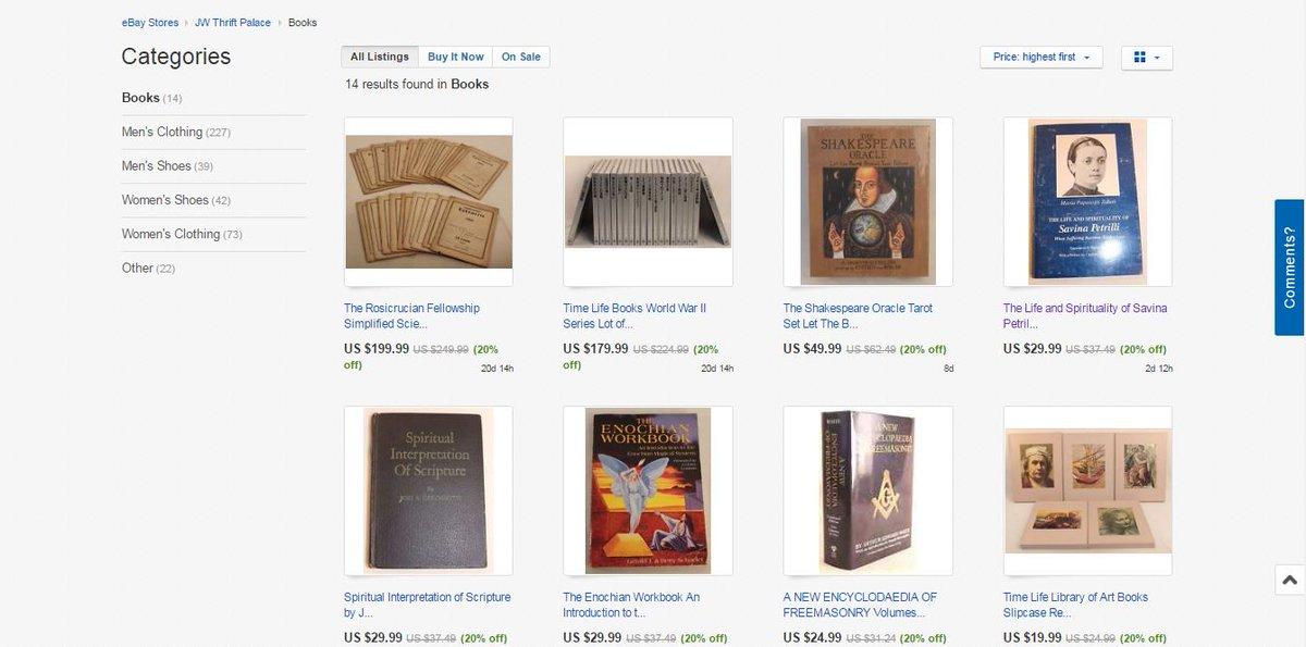 Please RT @eBay! stores.ebay.com/jwthriftpalace… … via @eBay #ebay #oldbooks #collectibles