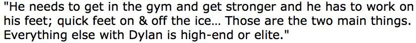 Coyotes AGM Steve Sullivan on Dylan Strome's summer to-do list: https:...