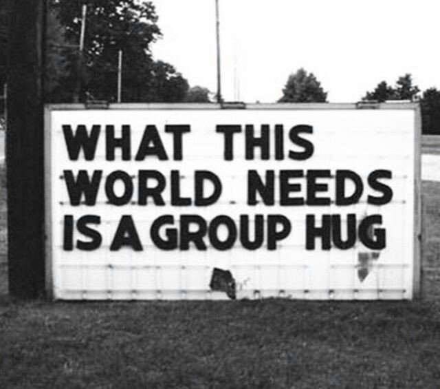 World needs a Group #Hug – #Creative #StreetArt – Be ▲rtist – Be ▲rt Magazine  http:// crwd.fr/2q55Zoq  &nbsp;  <br>http://pic.twitter.com/3M6bfBBexj