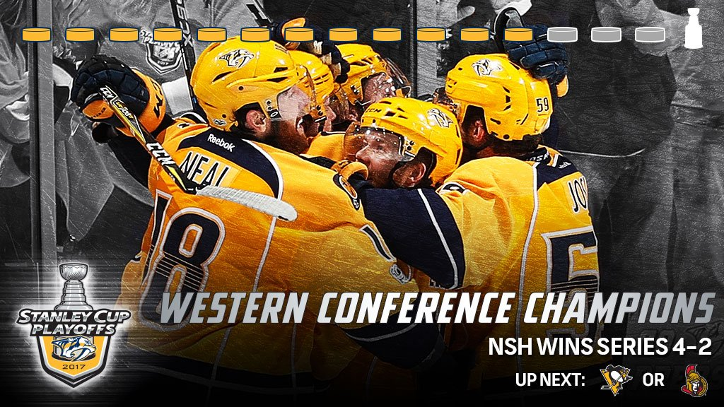 The @PredsNHL are going to the #StanleyCup Final! https://t.co/D2WA9T0...