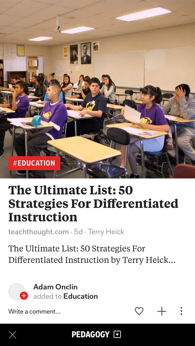 50 Strategies For #Differentiated #Instruction   http:// flip.it/OZE_4U  &nbsp;   #BirdvilleLearns #pedagogy<br>http://pic.twitter.com/D0wFQjZw9C