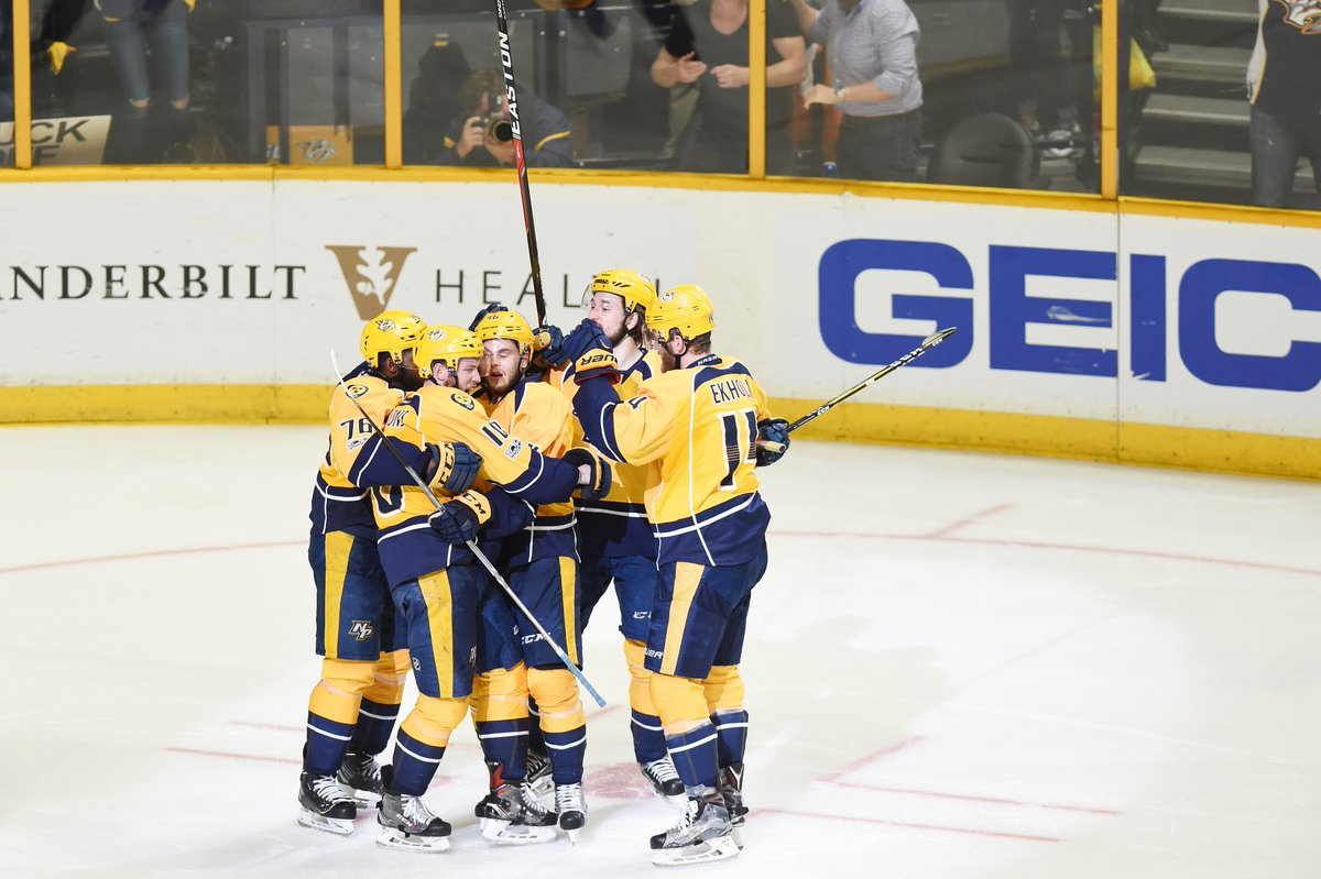 Nashville is in!  Predators heading to #StanleyCup Final for first tim...
